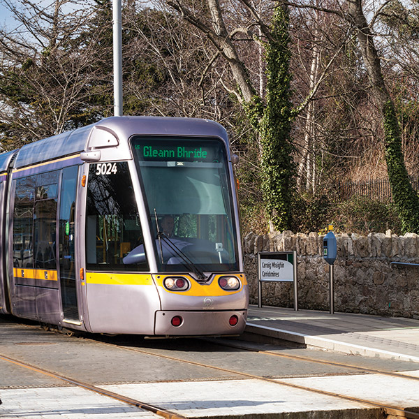 Luas stop at Cabinteely